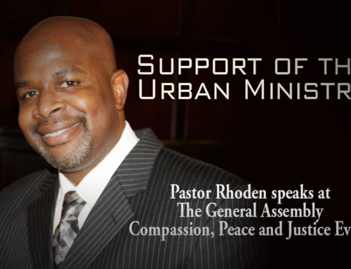 Pastor Rhoden calls for support of the Urban Ministry