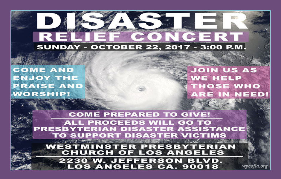 Presbyterian Disaster Relief Concert - Los Angeles Event