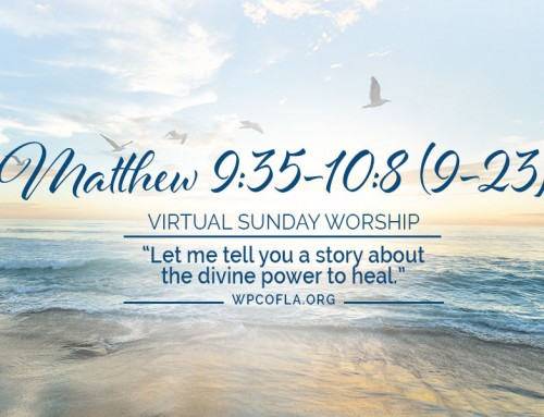VIRTUAL SUNDAY WORSHIP – The Divine Power to Heal ~ Matthew 9:35-10:8 (9-23)